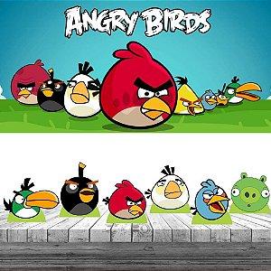 Kit Festa Angry Birds 6 Display + Painel Aniversário