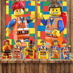 Kit 6 display Mesa E 2 Quadros Lego Decoração Festa 1-2