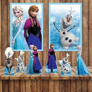Kit 6 display Mesa E 2 Quadros Frozen Decoração Festa 2-7
