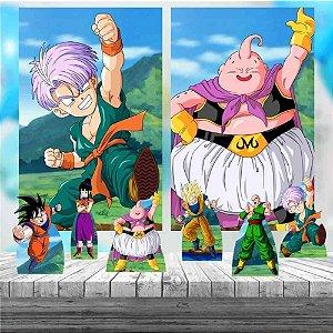 Kit 6 display Mesa E 2 Quadros Dragon Ball Festa Decoração 5-6