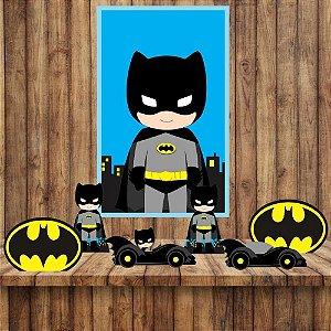 Kit 6 display Mesa E quadro Batman Decoração Festa 01