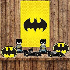 Kit 6 display Mesa E quadro Batman Decoração Festa 05