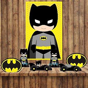 Kit 6 display Mesa E quadro Batman Decoração Festa 06