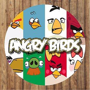 Painel Tecido Redondo Angry Birds Decoração Festa 01