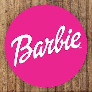 Painel Tecido Redondo Barbie Decoração Festa 01