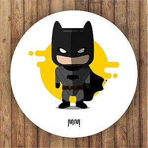 Painel Tecido Redondo Batman Cute Decoração Festa 02