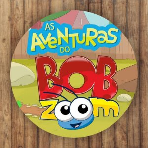 Painel Tecido Redondo Bob Zoom Decoração Festa 02