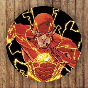 Painel Tecido Redondo The Flash Decoração Festa 02