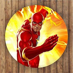 Painel Tecido Redondo The Flash Decoração Festa 03