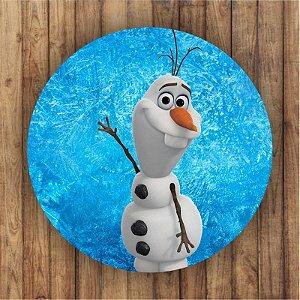 Painel Tecido Redondo Olaf Frozen Decoração Festa 04