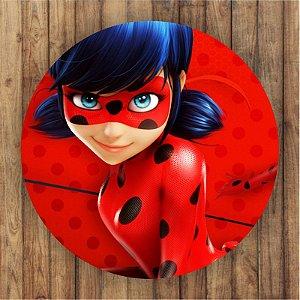 Painel Tecido Redondo Ladybug Catnoir Decoração Festa 01