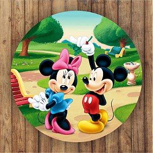 Painel Tecido Redondo Mickey Decoração Festa 02