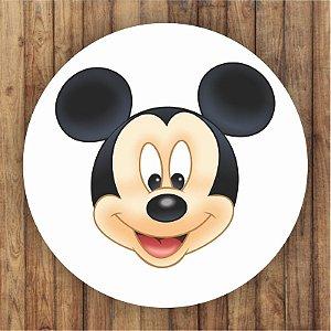 Painel Tecido Redondo Mickey Decoração Festa 03
