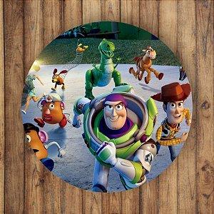 Painel Tecido Redondo Toy Story Decoração Festa 02
