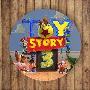 Painel Tecido Redondo Toy Story Decoração Festa 03