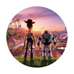 Painel Tecido Redondo Toy Story Decoração Festa 05