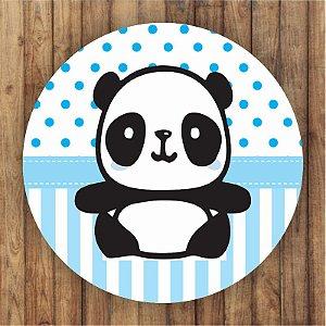 Painel Tecido Redondo Panda Menino Decoração Festa 03
