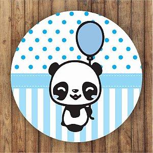 Painel Tecido Redondo Panda Menino Decoração Festa 04