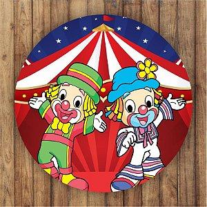 Painel Tecido Redondo Patati Patata Decoração Festa 01