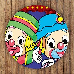 Painel Tecido Redondo Patati Patata Decoração Festa 02