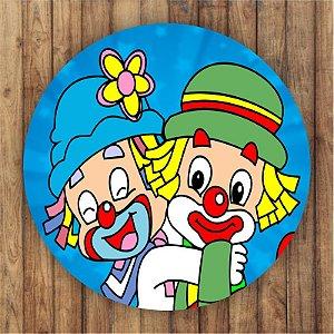 Painel Tecido Redondo Patati Patata Decoração Festa 04
