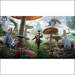 Painel em Lona Alice no Pais das Maravilhas 01