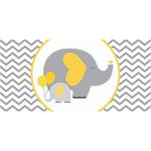 Painel em Lona Elefantinho Amarelo 01