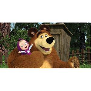 Painel em Lona Masha E O Urso 01