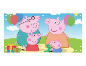 Painel em Lona Peppa Pig 01