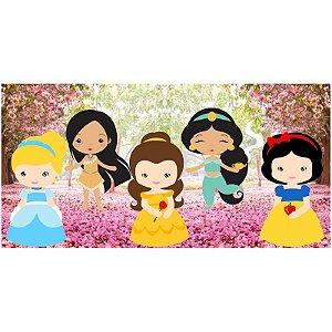 Painel em Lona Princesas Cute 01