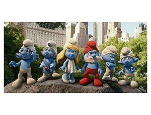 Painel em Lona Os Smurfs 01