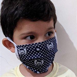 Máscara De Rosto Anatômica Em Tecido C/ Forro Frete Colorida com Filtro