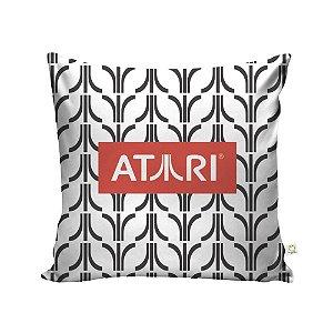 Capa de Almofada Logo Atari Branca