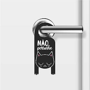 Aviso De Porta Não Perturbe Gatinho Mod02