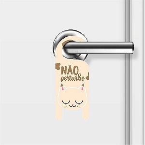 Aviso De Porta Não Perturbe Gatinho Mod01