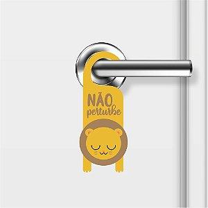 Aviso De Porta Não Perturbe Leãozinho Mod01