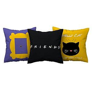 Kit 3 Capas de Almofada Série Friends