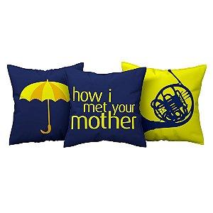 Kit 3 Capas de Almofada Série How I Met Your Mother