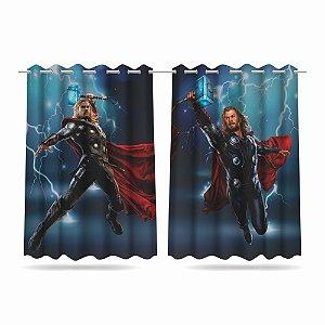 Cortina Infantil Vingadores Thor 2,60x1,50 Tecido MOD 01