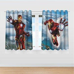 Cortina Infantil Vingadores Homem de Ferro 2,60x1,50 Tecido MOD 01