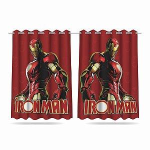 Cortina Infantil Vingadores Homem de Ferro 2,60x1,50 Tecido MOD 02