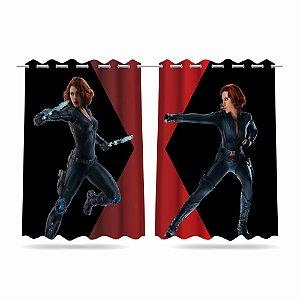 Cortina Infantil Vingadores Viúva Negra 2,60x1,50 Tecido MOD 01