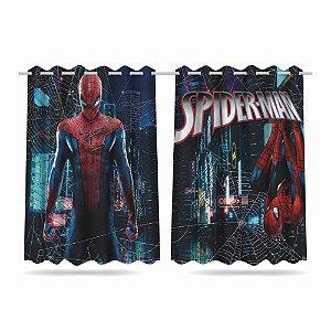 Cortina Infantil Vingadores Homem Aranha 2,60x1,50 Tecido MOD 05