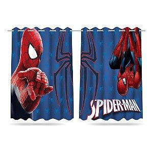 Cortina Infantil Vingadores Homem Aranha 2,60x1,50 Tecido MOD 02