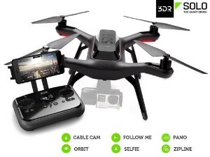 Drone 3DR SOLO - Gimbal + Bateria Extra + Case Rígido - Pronto para Voar