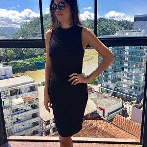 vestido básico preto Coleteria