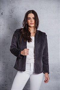 colete e casaco de pelo chumbo Coleteria