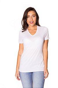 Camiseta básica decote V branca| t-shirt básica| Coleteria