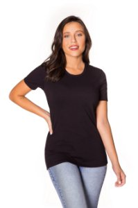 Camiseta básica Cotton preta| t-shirt básica| Coleteria