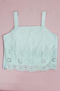 Top tecido Barrado branco|top| Coleteria